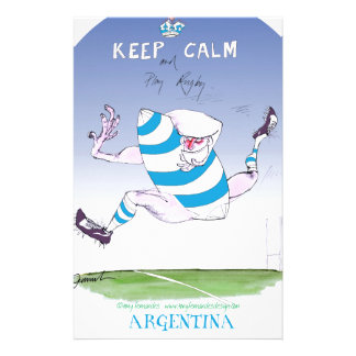tony fernandes's argentina forward personalized stationery