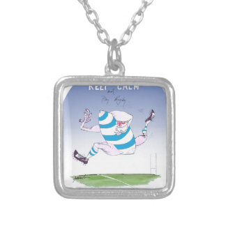 tony fernandes's argentina forward silver plated necklace