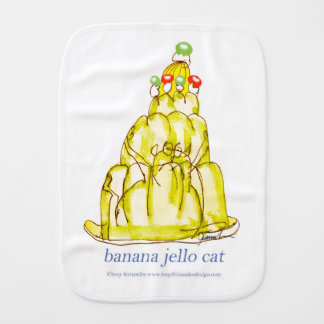 tony fernandes's banana jello cat baby burp cloth
