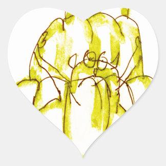 tony fernandes's banana jello cat heart sticker