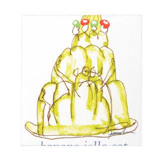 tony fernandes's banana jello cat notepads