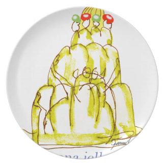 tony fernandes's banana jello cat plate