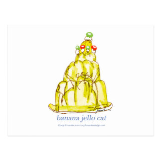 tony fernandes's banana jello cat postcard