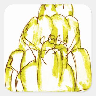 tony fernandes's banana jello cat square sticker