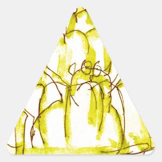 tony fernandes's banana jello cat triangle sticker