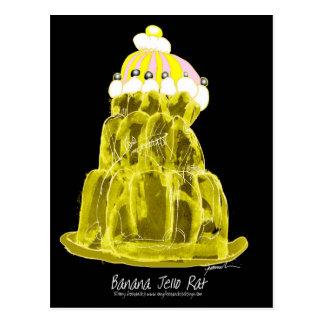 tony fernandes's banana jello rat postcard