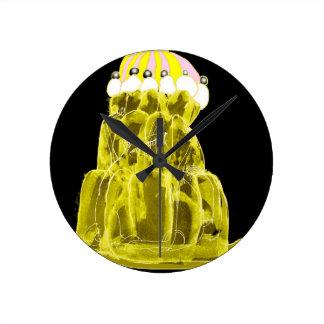 tony fernandes's banana jello rat round clock