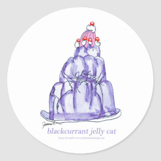 tony fernandes's blackcurrant jelly cat classic round sticker