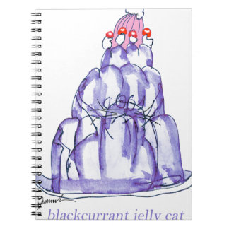 tony fernandes's blackcurrant jelly cat spiral notebook