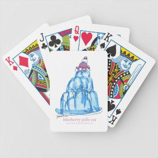 tony fernandes's blueberry jello cat bicycle playing cards