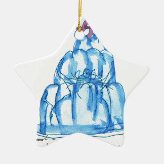 tony fernandes's blueberry jello cat ceramic star ornament