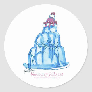 tony fernandes's blueberry jello cat classic round sticker
