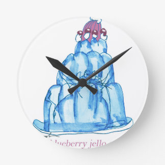 tony fernandes's blueberry jello cat round clock