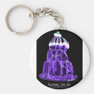 tony fernandes's blueberry jello rat basic round button keychain