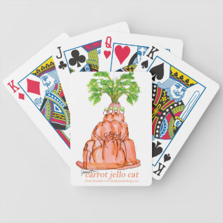 tony fernandes's carrot jello cat bicycle playing cards