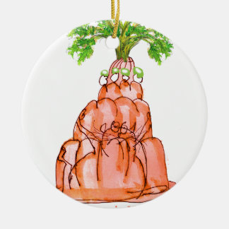 tony fernandes's carrot jello cat ceramic ornament