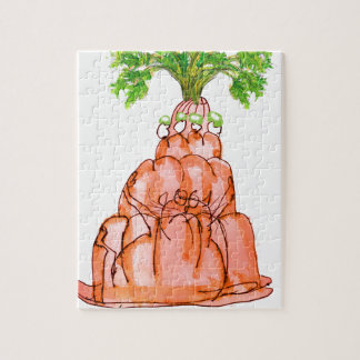 tony fernandes's carrot jello cat jigsaw puzzle