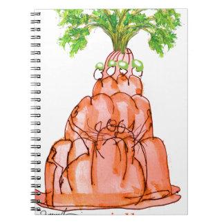 tony fernandes's carrot jello cat notebook