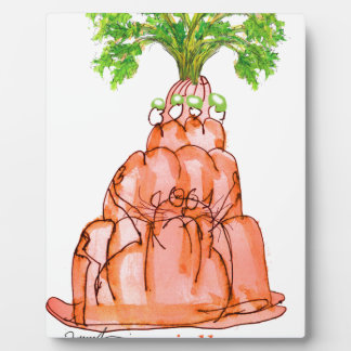 tony fernandes's carrot jello cat plaque