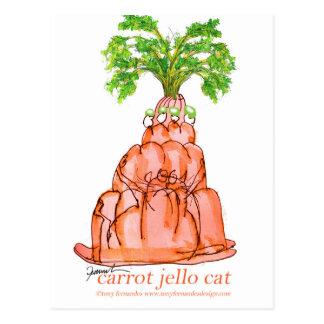 tony fernandes's carrot jello cat postcard