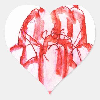 tony fernandes's cherry jello heart sticker