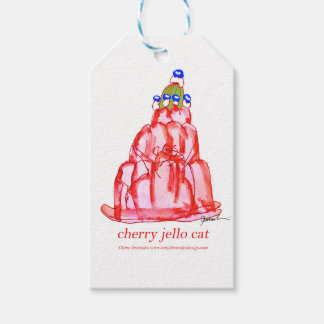 tony fernandes's cherry jello pack of gift tags