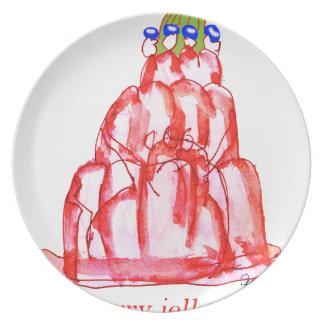 tony fernandes's cherry jello plates
