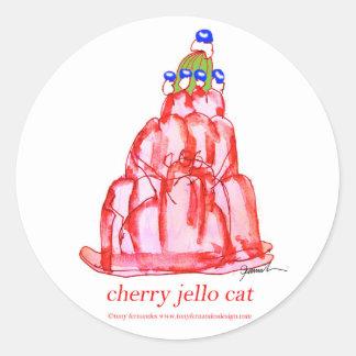 tony fernandes's cherry jello round sticker