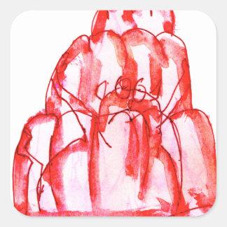 tony fernandes's cherry jello square sticker