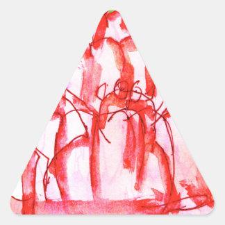 tony fernandes's cherry jello triangle sticker