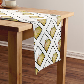 tony fernandes's ginger tom cat snap short table runner