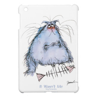 tony fernandes's 'it wasn't me' cat cartoon cover for the iPad mini