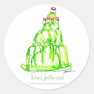 tony fernandes's kiwi jello classic round sticker