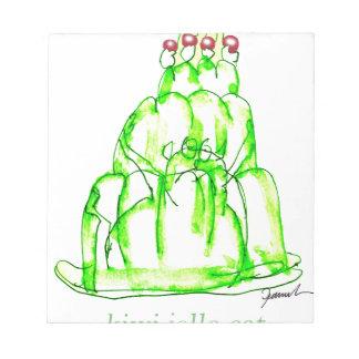 tony fernandes's kiwi jello notepad