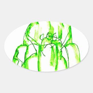 tony fernandes's kiwi jello oval sticker