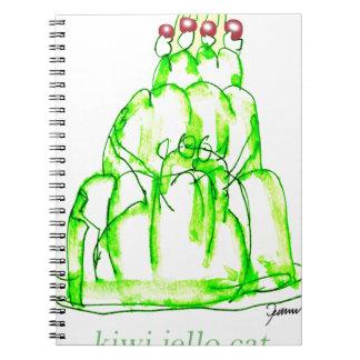 tony fernandes's kiwi jello spiral notebook