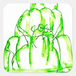 tony fernandes's kiwi jello square sticker