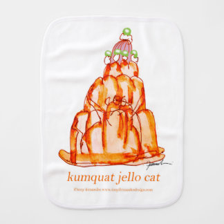 tony fernandes's kumquat jello cat burp cloth