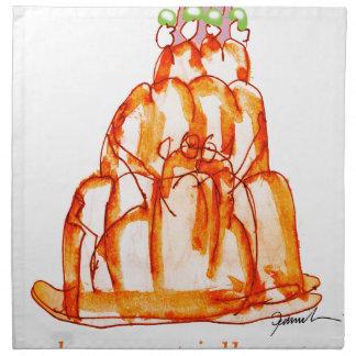 tony fernandes's kumquat jello cat napkin