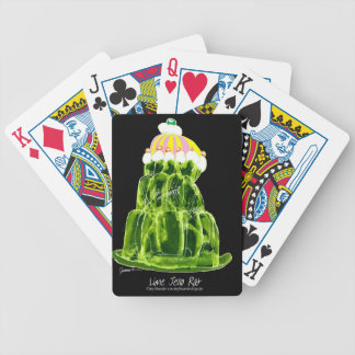 tony fernandes's lime jello rat bicycle playing cards