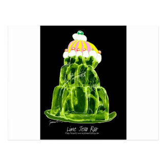 tony fernandes's lime jello rat postcard