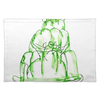 tony fernandes's lime jelly cat placemat