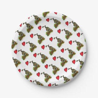 tony fernandes's love dodo 7 inch paper plate