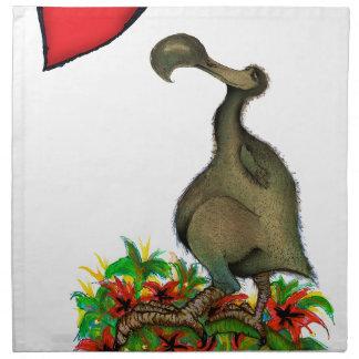 tony fernandes's love dodo cloth napkin