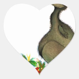 tony fernandes's love dodo heart sticker