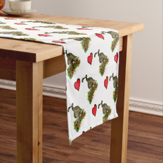 tony fernandes's love dodo short table runner