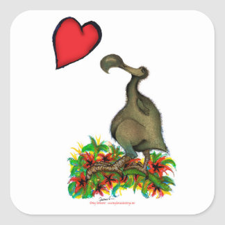 tony fernandes's love dodo square sticker