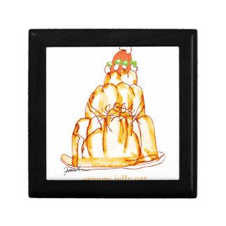 tony fernandes's orange jelly cat gift box