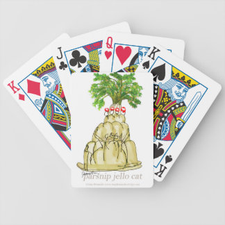 tony fernandes's parsnip jello cat bicycle playing cards