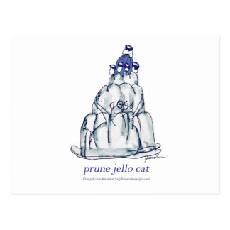 tony fernandes's prune jello cat postcard